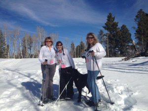 Snowshoing Karen and Friends
