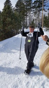 snow shoeing Mark